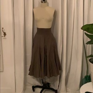 Context - Army Green peasant skirt